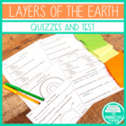 Layers of the Earth Quizzes and Test Question Bank