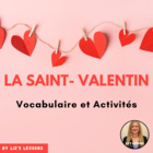 Le Jour de Saint Valentin! French Valentine's Day Activities
