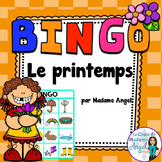 Le printemps:  Spring Themed Bingo Game in French