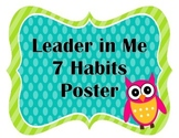 Leader in Me- 7 Healthy Habits Owl Theme