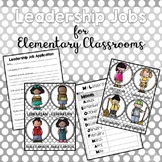 Leadership Jobs for Elementary Classrooms {Gray Dots}