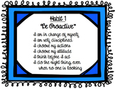 Leadership posters 4-8 grade - suppports the 7 habits and