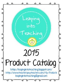 Leaping into Teaching Product Catalog