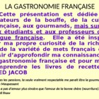 Learn about French cuisine, French food - Lesson Plan