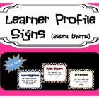 Learner Profile Signs - Zebra Theme