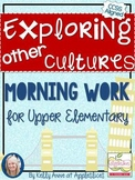 Free Learning About Cultures Morning Work {for Upper Eleme