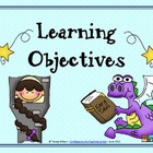 Learning Objectives Posters - Fairy Tale Theme