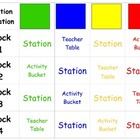 Learning Station Rotation Chart