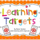 Learning Target Pocket Chart Set