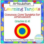Learning Targets: Articulation