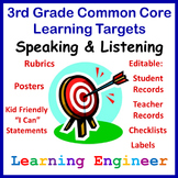 Learning Targets For Common Core State Standards 3rd Grade