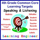 Learning Targets for the Common Core Standards 4th Grade S