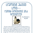 Learning about Lent--Family Devotions and Resources!