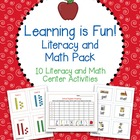 Learning is Fun Literacy and Math Pack - 10 Centers for Al