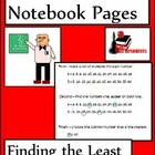 Least Common Multiples Lesson for Interactive Math Notebooks