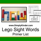 Lego Primer Sight Words