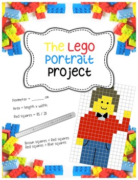 Lego-style Portrait Project - Fractions, Area, Perimeter, Art