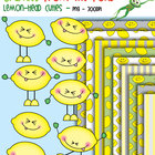 Lemon Head Cuties - Clipart for Teachers and Classrooms