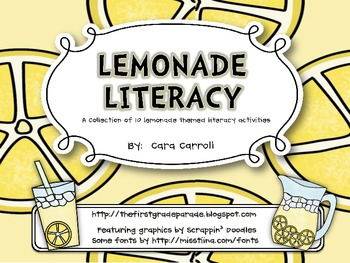 Lemonade Literacy {10 Lemonade Themed Literacy Centers}