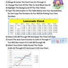 Lemonade Stand Spreadsheet