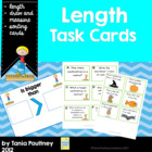 Length Measurement Task Cards- centimetres and metres
