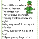 Leprechaun Poetry Station