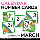 Leprechaun Theme Calendar Numbers