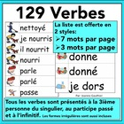 Les Verbes - French verbs illustrated word wall