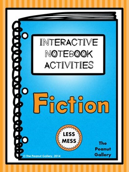 """Less Mess"" Fiction Interactive Notebook Activities (for Reading/Literature)"