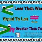 Less Than Wes Greater Than Jan Equal to Lou