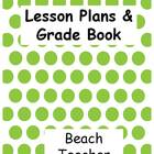 Lesson Plan & Grade Book: Green Polka Dot Theme