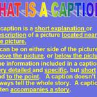 Lesson on Writing Captions