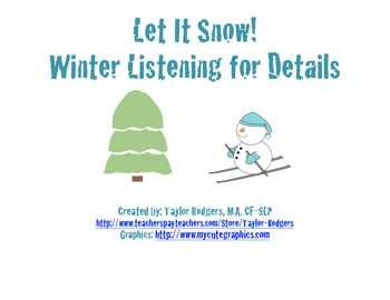 Let It Snow! Winter Listening for Details