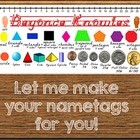 Let Me Make Cool, Customized Name Tags For You! {24 hr tur