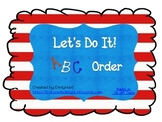 Let's Do It! ABC Order - Dr. You Know Who