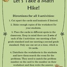 Let's Go On a Math Hike! {Math Activities that Meet Common Core}