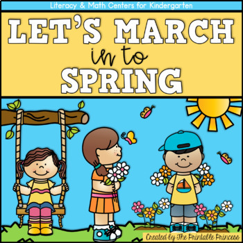 Let's March into Spring! {Spring Literacy & Math Centers for Kindergarten}