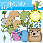Plant It Clip Art Graphics for Teaching Color & Line Art