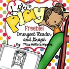 Let's Play!  {An Emergent Reader and Graph} FREEBIE!
