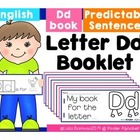 Letter Dd Booklet- Predictable Sentences