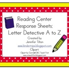 Letter Detective A to Z: Literacy Center Activity