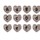 Letter Matching Uppercase and Lowercase Valentine Chocolat