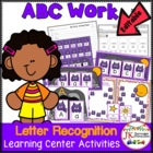 Letter Recognition! ABC Bats Literacy Center Activities {CCSS}