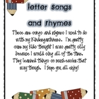 Letter Songs and Poems