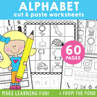 Alphabet Worksheets - Cut and Paste - Phonics / Single Sounds