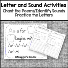 Letter and Sound Identification, Handwriting Practice, and