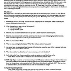 Letter of Recommendation Questionnaire