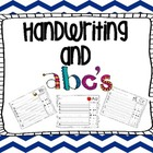 Letter recognition and Handwriting practice- Kindergarten