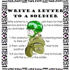Letter to a Soldier Patriotic Writing Lesson