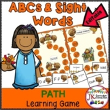 Thanksgiving Game: Letters & PrePrimer Sight Words: Turkey